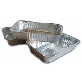 ALUMINUM CONTAINER TRAY 4 PORTIONS CM. 21 X 16 X 3,5H. PZ. 3
