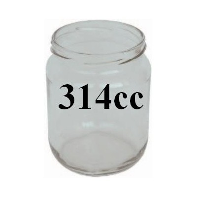 GLASS JARS CC. 314/70 PCS. 20 WITH CAPS