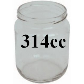 GLASS JARS CC. 314/70 PCS. 20 WITHOUT CAPS