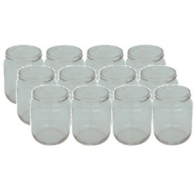 GLASS JARS CC. 580/70 PCS. 20 WITH CAPS