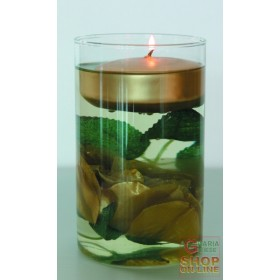GLASS JAR FLOWER CANDLE RED GOLD
