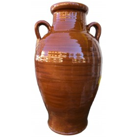 GLAZED TERRACOTTA VASE AMPHORA HANDMADE HEIGHT CM. 54