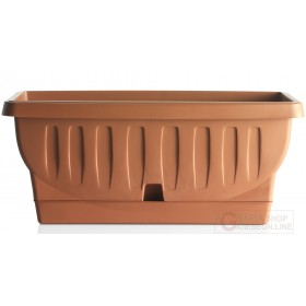 Bama Natura planter vase with terracotta saucer cm. 102x48x44h