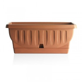 Bama Natura planter vase with terracotta saucer cm. 50