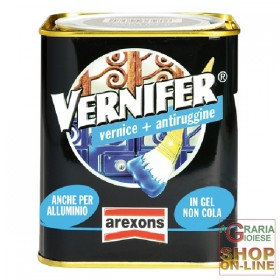 VERNIFER GEL PAINT WITH ANTI-RUST BROWN SHELL ML. 750