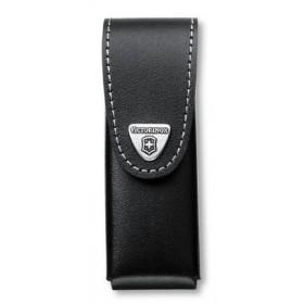 VICTORINOX CASE BLACK LEATHER KNIFE 111 MM.