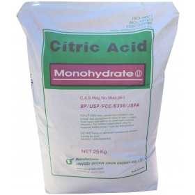 CITRIC ACID MONOHYDRATE FOR FOOD USE KG. 25