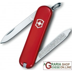 VICTORINOX CLASSIC ESCORT KNIFE KEYCHAIN MULTIPURPOSE RED COLOR MM. 58