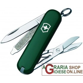 VICTORINOX CLASSIC SD KNIFE KEYCHAIN MULTIPURPOSE GREEN COLOR MM. 58
