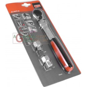 BAHCO ART. S140T-R SOCKET WRENCHES WITH THROUGH RATCHET PCS. 3