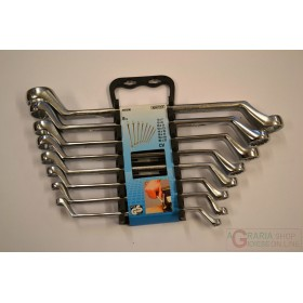 Einhell Set of 8 CV curved double polygonal wrenches with support