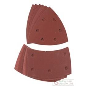 Einhell set fogli abrasivi velcro per legno e metallo 12 pz.
