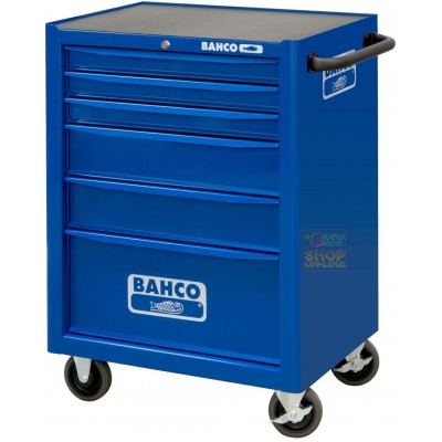BAHCO TROLLEY TOOL CHEST WITH 6 DRAWERS MODEL 1470K6 BLUE MEASURES CM. 67.7x50.1x95h.