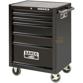 BAHCO TROLLEY TOOL CHEST WITH 6 DRAWERS MODEL 1470K6 BLACK MEASURES CM. 67.7x50.1x95h.
