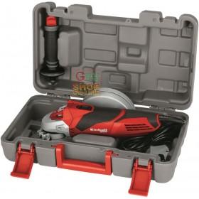 Einhell Angle grinder TE-AG 125/750 KIT case and watt disc. 750