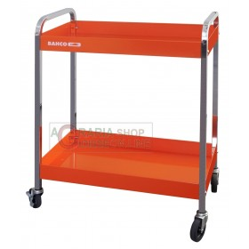 BAHCO TROLLEY WITH 2 SHELVES WHEELS