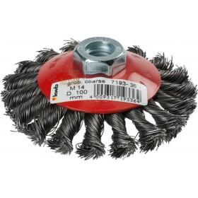 Einhell spazzola conica di filo acciaio mm. 0,5 diam. mm. 100
