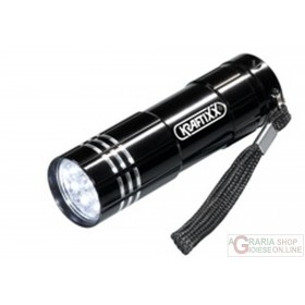 Einhell 9 LED colored pocket battery torch