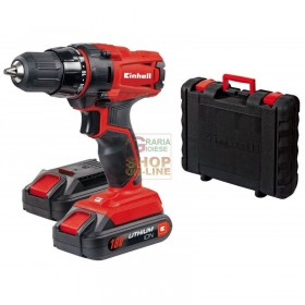 Einhell Hammer drill with 2 lithium battery 18v 1.5 ah TC-CD18