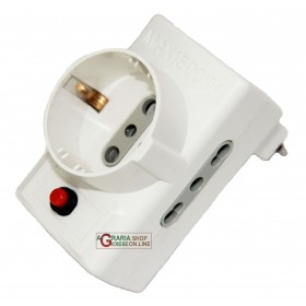 ELECTRALINE ADAPTER 10 / A WITH 2 BIVALENT SOCKETS WITH 1