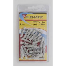 ELEMATIC BLISTER DOWELS AND 6 PCS. 30