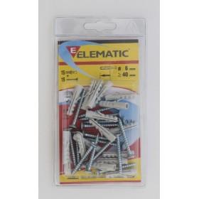 ELEMATIC BLISTER DOWELS E / VA 6 PCS. 15