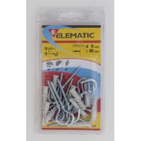 ELEMATIC BLISTER DOWELS EB / OA 6 PCS. 10