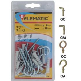 ELEMATIC BLISTER DOWELS EB / OC 6 PCS. 10