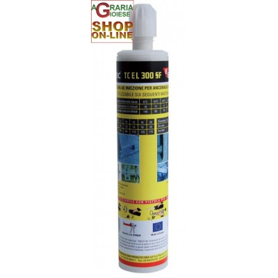 ELEMATIC CARTUCCIA CHIMICA TCEL300SF ML.300