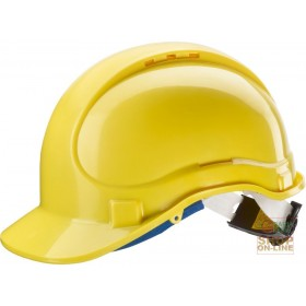 PROTECTIVE HELMET IN ABS WITH THROAT AND SWEAT BAND RATCHET EN 397 COLOR YELLOW