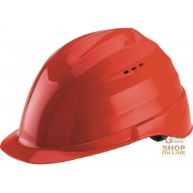 PROTECTIVE HELMET IN ABS MATERIAL GR 285 WITH ANTI-SWEAT BAND RED COLOR
