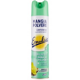 EMULSIO MANGIAPOLVERE CLEANS AND ELIMINATES VANILLA AND WHITE TEA POWDER ml. 300