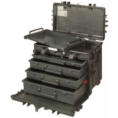 BAHCO RIGID CASE TROLLEY TOOL HOLDER WITH WHEELS AND FOUR DRAWERS 4750RCWD4