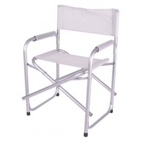 ENRICO COVERI DIRECTOR'S CHAIR CLOSED IN WHITE FABRIC