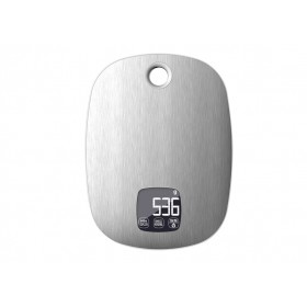 EVA DIGITAL STAINLESS STEEL KITCHEN SCALE WITH TIMER KG. 5