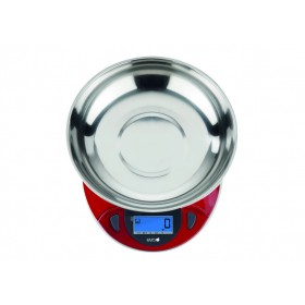 EVA RED STAINLESS STEEL DIGITAL KITCHEN SCALE KG. 6
