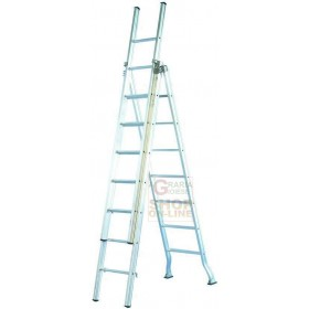 FACAL LADDER ALUMINUM INDUSTRIAL TYPE 3 RAMPS 9 + 9 + 9