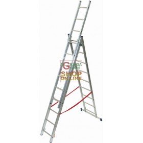 FACAL LADDER ALUMINUM STYLE TYPE 3 RAMPS 9 + 9 + 9