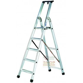 FACAL ALUMINUM LADDER SQUARE SECT. 24X50 STEPS 8