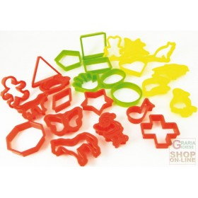 FACKELMANN 25 COOKIE CUTTERS IN ABS ASSORTED SHAPES AND COLORS