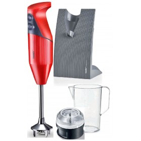 BAMIX BLACK FRIDAY FRULLATORE MIXER AD IMMERSIONE ROSSO WATT. 180 CON KIT