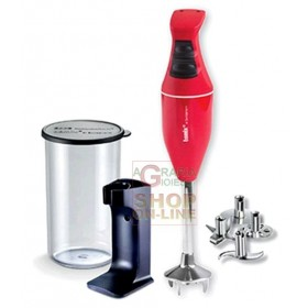 BAMIX MONO RED IMMERSION MIXER BLENDER WATT. 180 WITH KIT