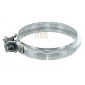 AISI 304 STAINLESS STEEL JUNCTION CLAMP FOR STOVE PIPE CM. 8