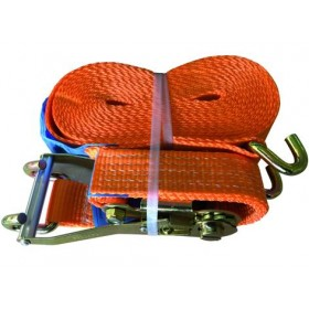 BAND WITH PROFESSIONAL RATCHET CAPACITY 5 TON VIGOR STRAP MM. 50 x 8.5 mt.