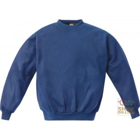 CREW NECK SWEATSHIRT 100% POLYESTER 300 GR MQ BLUE COLOR TG ML XL XXL
