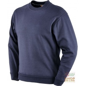 CREW NECK SWEATSHIRT LONG SLEEVE 50% COTTON 50% POLYESTER 280 GR SQM BLUE COLOR TG ML XL XXL