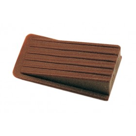 ADHESIVE BROWN WEDGE DOOR STOP PCS. 8