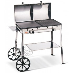FERRABOLI GAS BARBECUE STEREO MODEL INOX cm 98x55x86h.