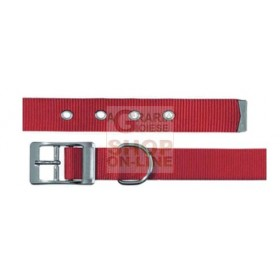 FERPLAST COLLAR FOR DOGS PERFORATED COLOR RED CLUB CF20-43