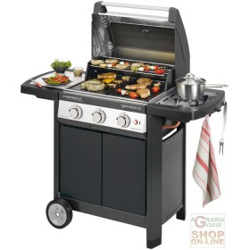 BARBECUE CAMPINGAZ A GAS GENESCO 3 CLASSIC DELUX L GRILL AND PLATE IN CAST IRON KW. 17.5